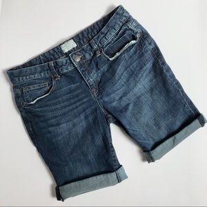 Aeropostale Dark Wash Jean Bermuda Rolled Shorts